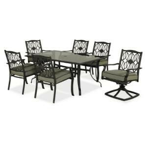 Hampton Bay Melbourne 7 pc Dining Set Replacement Cushions