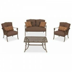 hampton bay pacific grove 4 pc deep seating set replacement cushions - Replacement Cushions For Patio Furniture