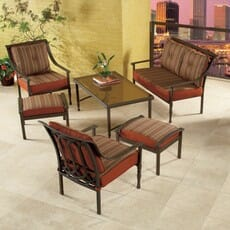 Hampton Bay Benedetto 6-piece patio cushions
