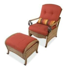 Hampton Bay Sanopelo Chair and Ottoman Replacement Cushions