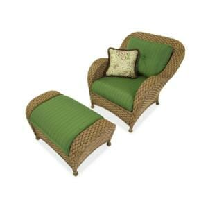 Hampton Bay Chateau Chair and Ottoman Set Replacement Cushions